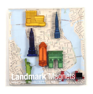 New York Landmark Fridge Magnets - Landmarks of the fabulous city Thumbnail 1