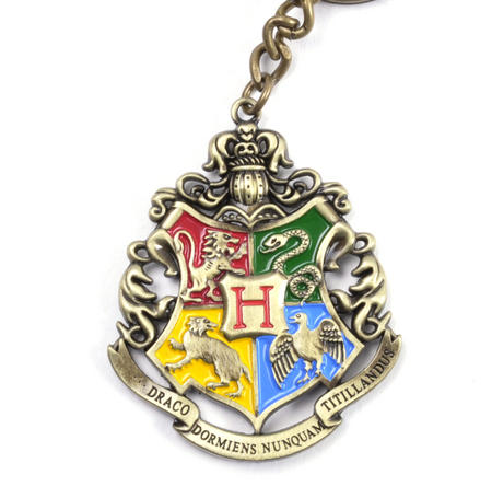 Harry Potter Hogwarts Crest Keychain Noble Collection