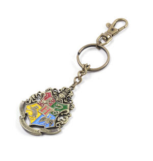 Harry Potter Hogwarts Crest Keychain Noble Collection Thumbnail 3