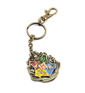 Harry Potter Hogwarts Crest Keychain Noble Collection Thumbnail 4