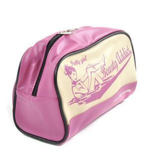 Pretty Girl Beauty Addict 1974 High Quality Make Up Bag / Cosmetics Bag / Wash Bag Thumbnail 2