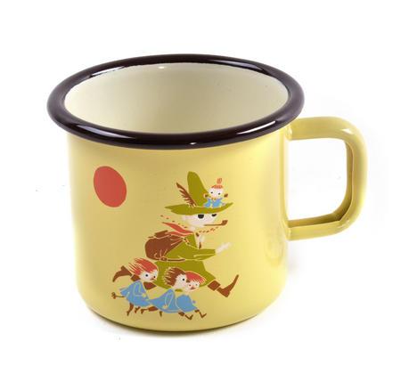 Snufkin - Yellow Moomin Muurla Enamel Mug - 3.7 cl