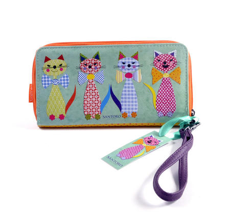 Cats with Bowties - Large Zip Wallet