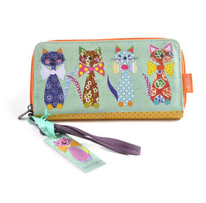 Cats with Bowties - Large Zip Wallet Thumbnail 3