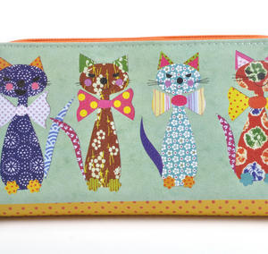 Cats with Bowties - Large Zip Wallet Thumbnail 4