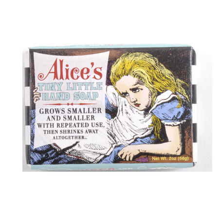 Alice's Tiny Little Hand Soap - Alice in Wonderland Soap - Grows Smaller and Smaller