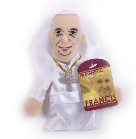 Pope Francis Finger Puppet & Fridge Magnet