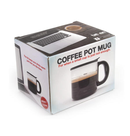 Coffee Pot Mug -For a Big 400ml Hit of Caffeine
