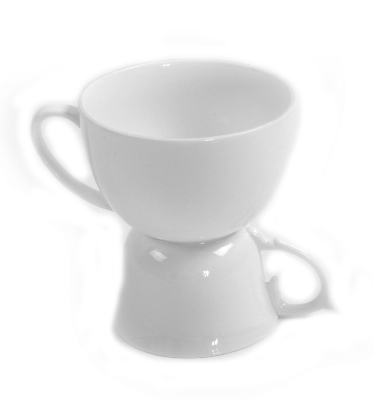 Tea Coffee Double Cup Two Sizes For Dual Use
