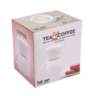 Tea & Coffee Double Cup - Two Cup Sizes For Dual Use Thumbnail 2