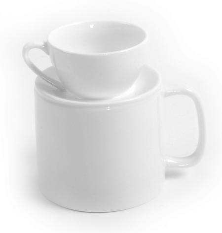 Latte & Espresso Double Cup - Two Cup Sizes For Dual Use