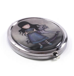 The Getaway - Gorjuss Oval Compact Pocket Handbag Mirror Thumbnail 2