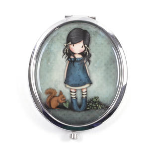 You Brought Me Love - Gorjuss Oval Compact Pocket Handbag Mirror