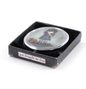 You Brought Me Love - Gorjuss Oval Compact Pocket Handbag Mirror Thumbnail 3