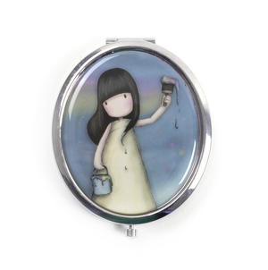 Rainbow Dreams - Gorjuss Oval Compact Pocket Handbag Mirror Thumbnail 1