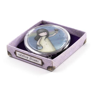 Rainbow Dreams - Gorjuss Oval Compact Pocket Handbag Mirror Thumbnail 2