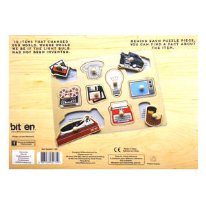 Retro Technology Wooden Peg Puzzle - Record Player, Reel to Reel, Cassette, Typewriter, Floppy Disc etc Thumbnail 2