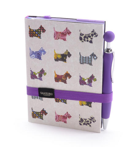 Scottie Dogs Premium Journal with Pen by Santoro