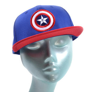 Captain America Logo Marvel Age of Ultron Avengers Snap Back Cap Thumbnail 1