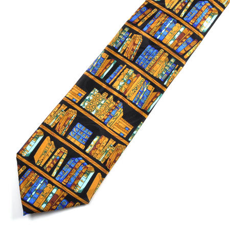 Book Library Tie for Librarians, Booksellers and Bibliophiles