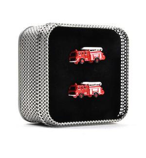 Cufflinks - Fire Engines - Cuff Links for Firemen Thumbnail 2