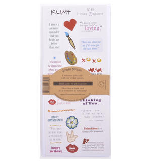 Gustav Klimt The Kiss Quotable Notable - Greeting Card With Sticker Quotes Thumbnail 2