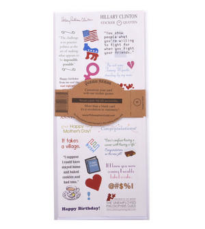 Hillary Clinton Quotable Notable - Greeting Card With Sticker Quotes Thumbnail 2