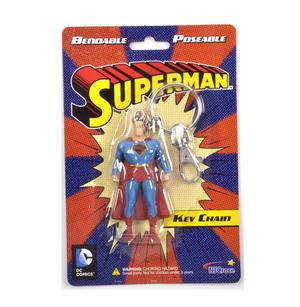 Superman Bendable Poseable Key Chain DC Comics Thumbnail 1
