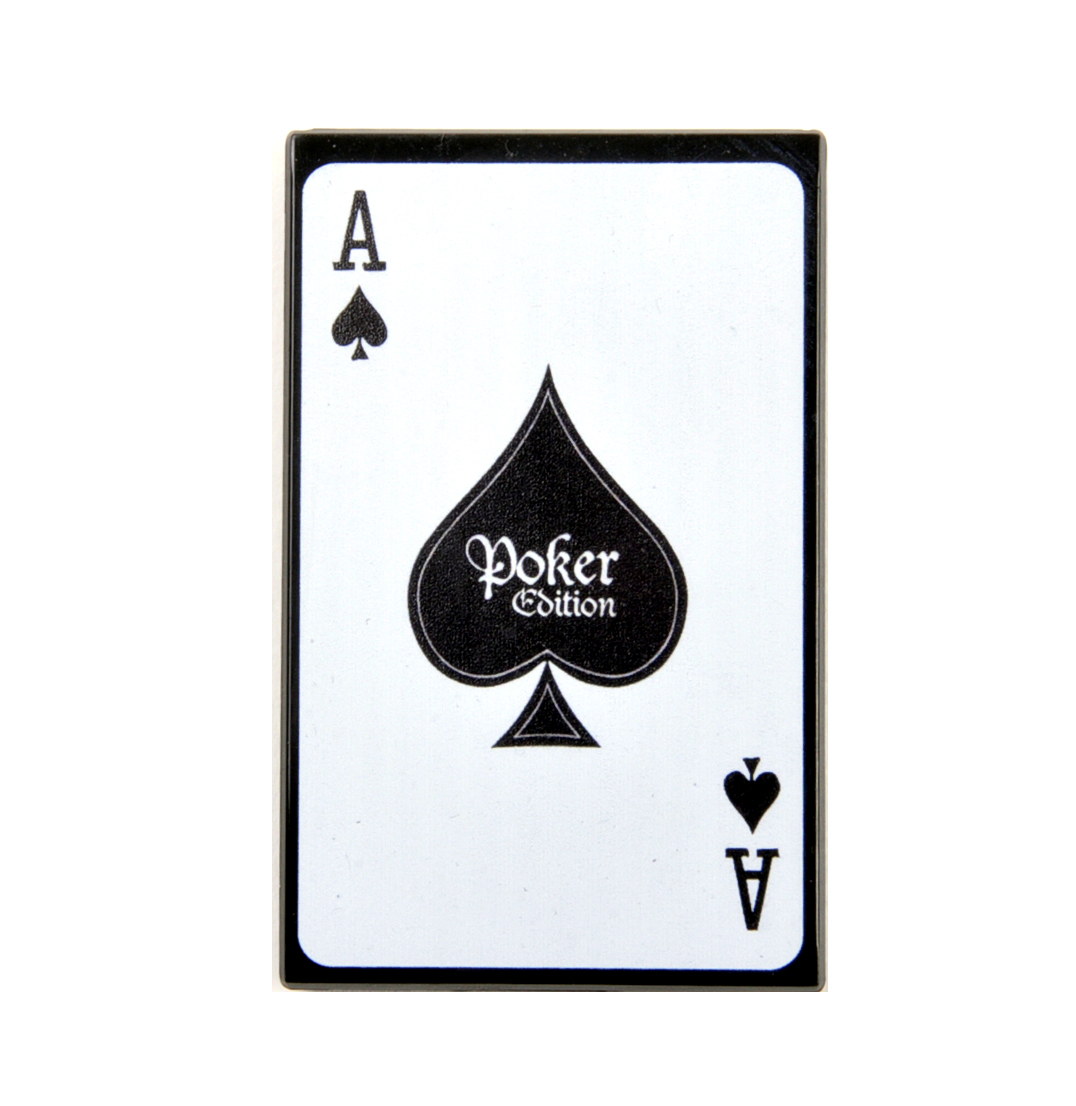Ace Poker Edition - Black Royal Box with Steel Pipe - Sniffing, Snorting,  Snuff Set