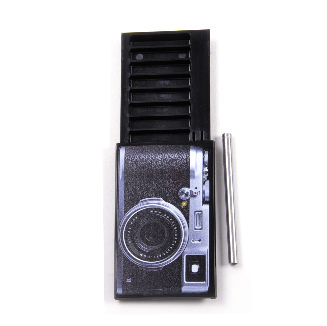 Camera Edition - Black Royal Box with Steel Pipe - Sniffing, Snorting,  Snuff Set