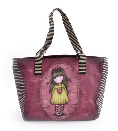 Heartfelt Shopper Bag With Pockets By Gorjuss