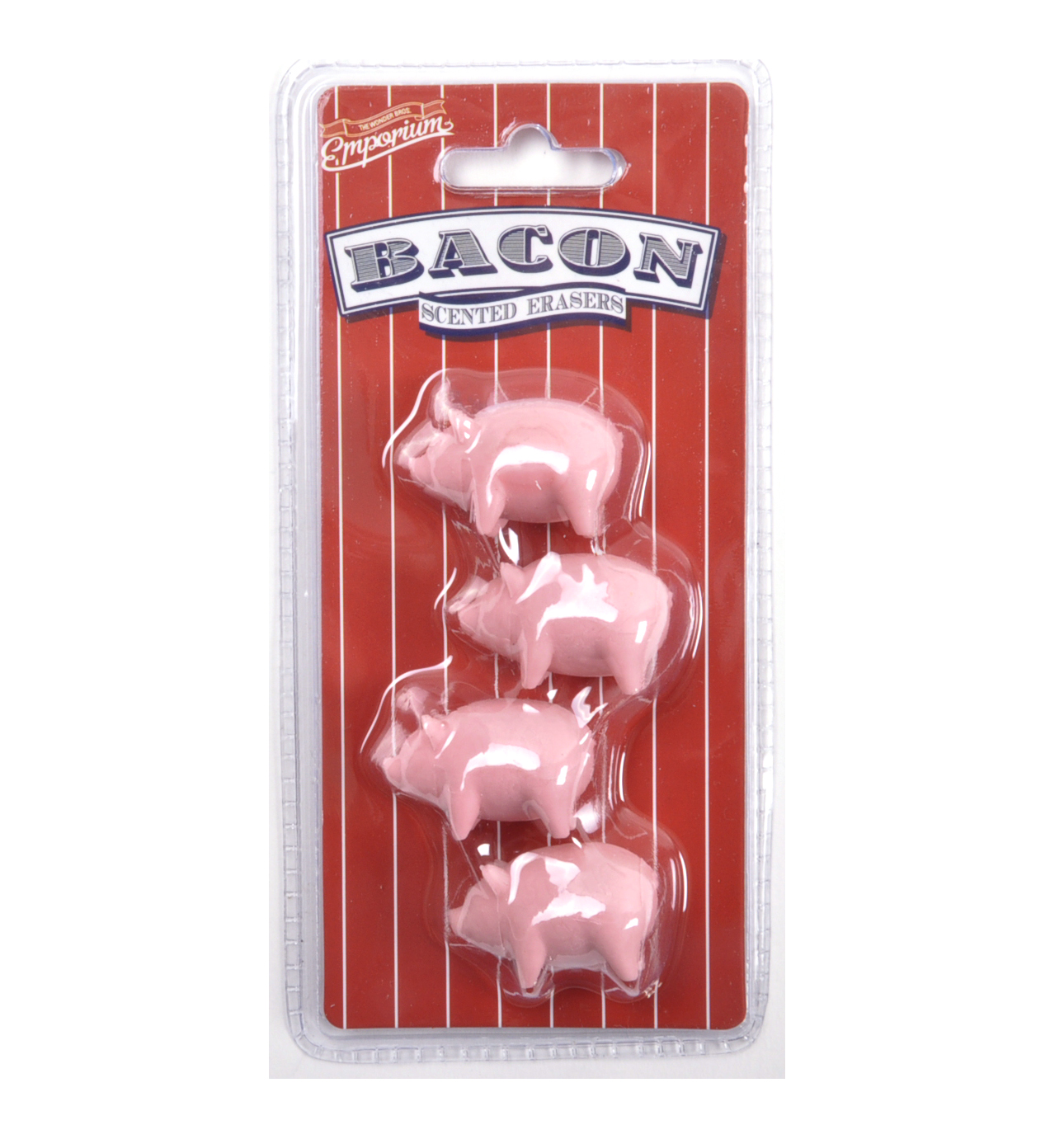 Bacon scented erasers pink cat shop for Decor bacon cooker