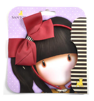 Alice Band with Large Bow by Gorjuss - Scarlet Thumbnail 1