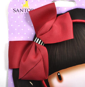 Alice Band with Large Bow by Gorjuss - Scarlet Thumbnail 2
