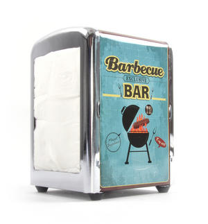 Barbecue Bar Diner Napkin / Serviette Dispenser Thumbnail 1