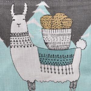 Mountain Llama - Small Cosmetics Make Up Bag - Lamarama By Danica Studios Thumbnail 3