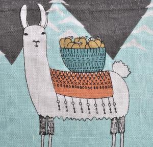 Mountain Llama - Small Cosmetics Make Up Bag - Lamarama By Danica Studios Thumbnail 4