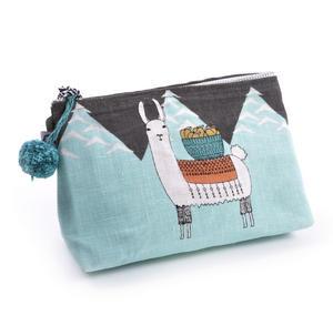 Mountain Llama - Small Cosmetics Make Up Bag - Lamarama By Danica Studios Thumbnail 5