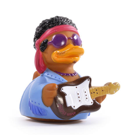 Purple Waves Rubber Duck - Celebriduck for Jimi Hendrix Fans
