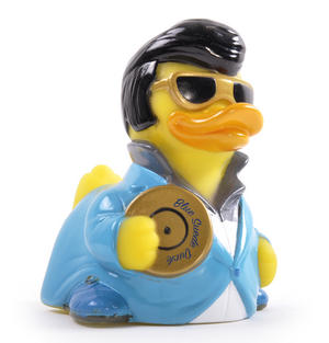 Blue Suede Rubber Duck - Celebriduck for Elvis Presley Fans Thumbnail 3
