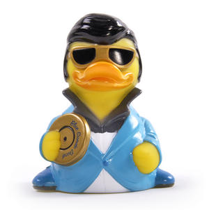 Blue Suede Rubber Duck - Celebriduck for Elvis Presley Fans Thumbnail 4