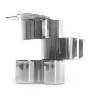 Love heart  Jewellery Boxes - Interlinked Polished Steel Stack Thumbnail 6
