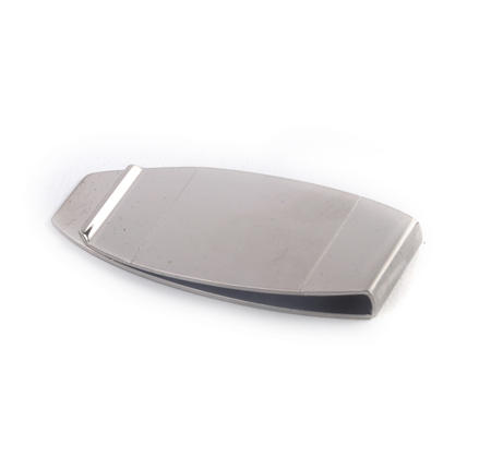Polished / Brushed Steel Detail Classic Money Clip