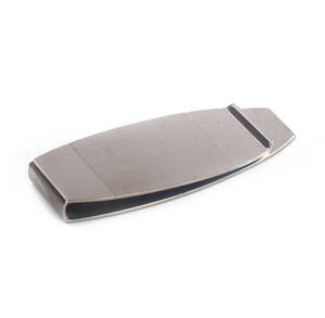 Polished / Brushed Steel Detail Classic Money Clip Thumbnail 2