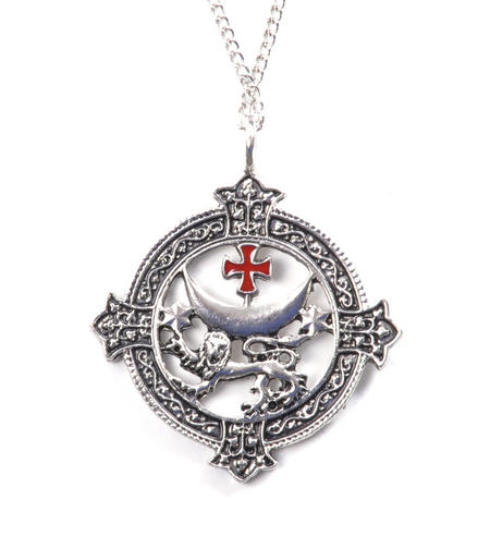 Knight Templar Talisman Pendant - Templar Lion  KT2