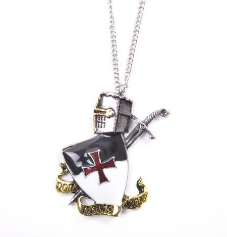Knight Templar Talisman Pendant - Non Nobis Domine - Templar Motto KT3