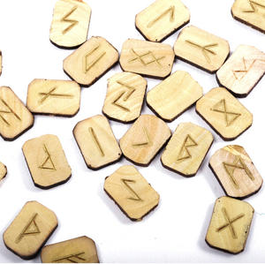 Wooden Runes Set with Pagan Futhark Runic Symbols Thumbnail 3