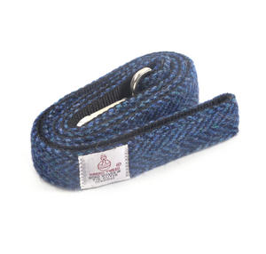 Blue Harris Tweed Dog Lead