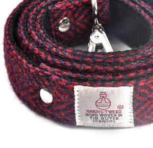 Red Harris Tweed Dog Lead Thumbnail 2