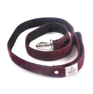 Red Harris Tweed Dog Lead Thumbnail 3